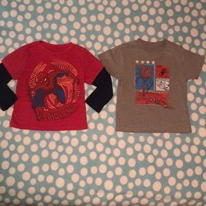 Marvel Spiderman shirts 3T/4T
